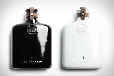 High-End Ceramic Flasks - Misc Goods Co Created Black and Ivory Alcohol Flasks for the Summer