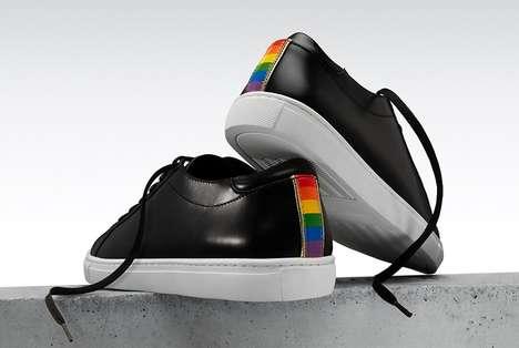 Rainbow-Motif Pride Sneakers