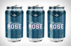 Stylish Pink Rose Cans