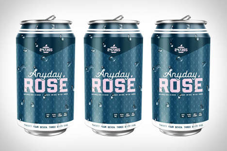 Stylish Pink Rose Cans - Anyday Rose is a Refreshing Rose Cider with a Unique and Stylish Can