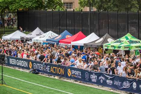 Rugby-Themed Beer Gardens - Toronto Wolfpack Rugby and The Craft Guys Partner for Local Games