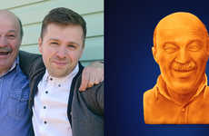 Cheesy Paternal Sculptures