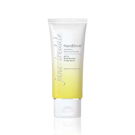 Protective Lemongrass Creams - Jane Iredale's HandDrink Hand Cream Pairs SPF 15 & Natural Extracts