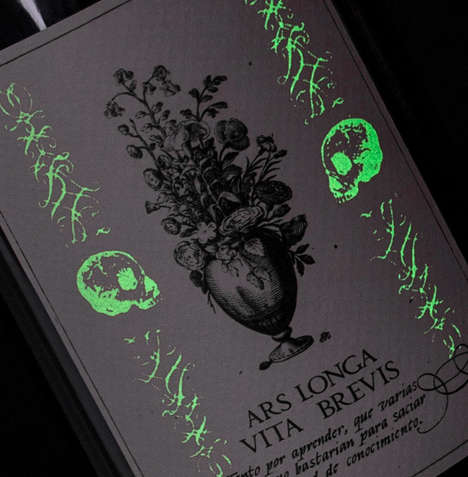 Glow-in-the-Dark Wine Labels