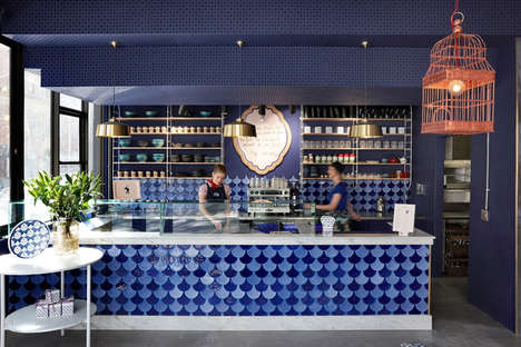Artistic Cafe Interior Designs - Haldane Martin's Creative Approach for the Swan Cafe is Sleek
