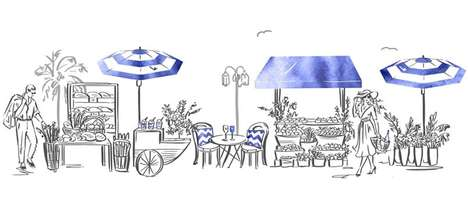 French Riviera-Inspired Pop-Ups