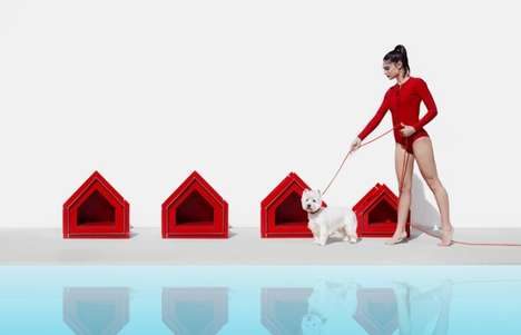 Futuristic Flatpack Dog Houses - The 'Touffu' Pet House is Simple to Assemble without Tools