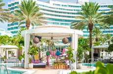 Luxe Rosé Cabanas - The Palm by Whispering Angel Now Offers a 'Rosé Oasis Cabana'