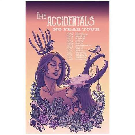 Zodiac-Inspired Promotional Posters - Emilee Petersmark's Zodiac Illustrations are Goddess-Themed
