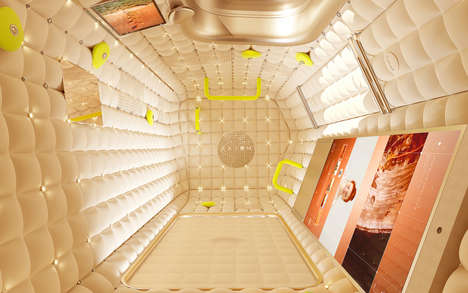 Commercial Space Station Interiors - Philippe Starck's Design Boasts Soft Walls & a Cozy Aesthetic