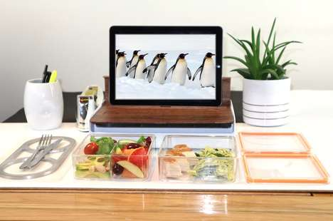 Device-Holding Lunchboxes