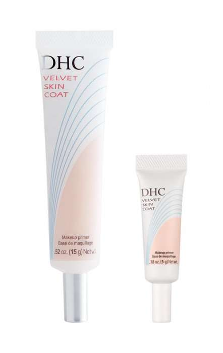 Powdery Primer Formulas - DHC's Velvet Skin Coat is able to Reduce the Appearance of Pores