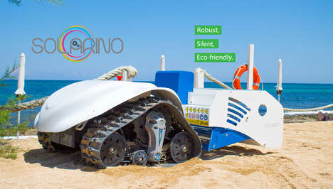 Solar-Powered Beach Cleaners - The Dronyx Solarino Robotic Beach Cleaner Captures Unwanted Debris