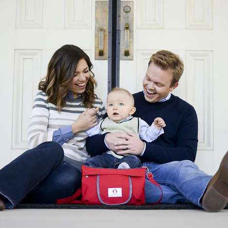 Quick-Access Baby Bags - The Peke-Buo Diaper Bag Clutch Creates a Changing Station Anywhere