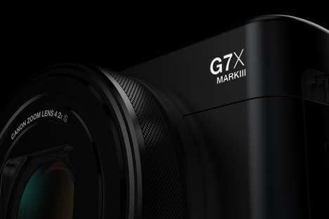 Speedy 4K Compact Cameras - The Conceptual Canon G7X Mark III is Powerful yet Compact