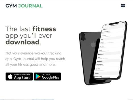 Social Workout Journaling Apps - 'Gym Journal' Tracks Your Workouts and Manages Your Routine