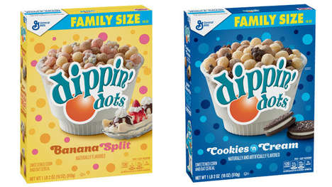 Ice Cream-Inspired Cereals - The General Mills Dippin' Dots Cereal Comes in Two Tasty Flavors