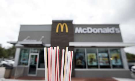 Paper Fast Food Straws - UK McDonald's Straws Will Be Swapped for Eco-Friendly Alternatives