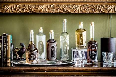 Laser-Etched Custom Decanters - Reclamation Etchworks' Products are Perfect for the Home Bar Set-Up