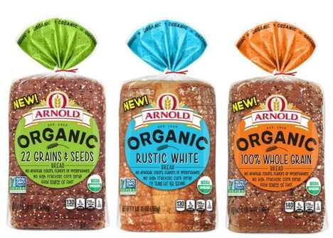 Free-From Prepackaged Breads - These New Arnold Organic Breads are Made with Healthy Ingredients