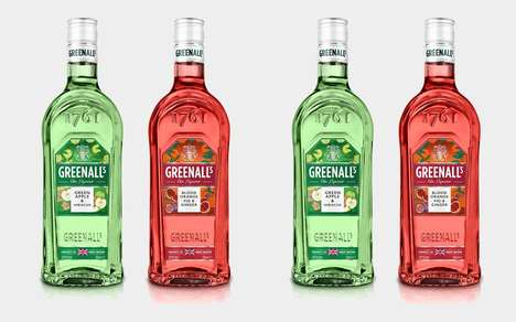 Artisan Duty Free Liqueurs - The New Greenall's Gin Varieties are Infused with Premium Flavors