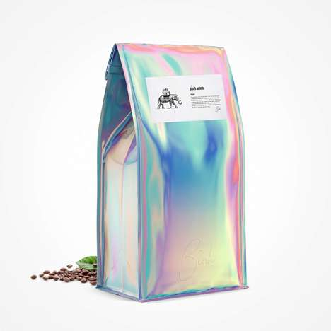 Holographic Coffee Packaging - The Bình Minh Coffee Bag Tells a Story About Vietnamese Sunrises