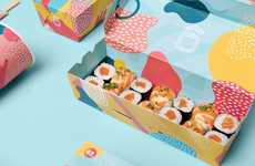 Kid-Friendly Sushi Boxes - Home Sweet Sushi's Packaging Acknowledges That Kids Eat with Their Hands