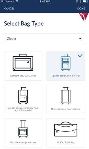 In-App Delayed Bag Deliveries