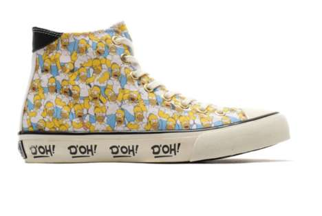 Cartoon Sitcom Sneakers - UBIQ Designs Custom Canvas Sneakers Inspired by The Simpsons