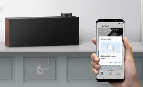 Audio-Upscaling Speakers - The Samsung VL5 Wireless Hi-Fi Speaker Eliminates Distortion