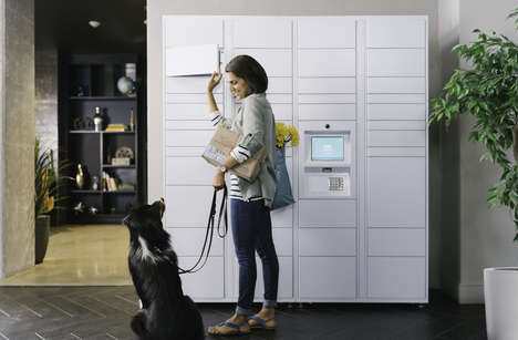 Automated Package Pickup Stations - The Amazon Hub Secures Packages Until Residents Retrieve Them
