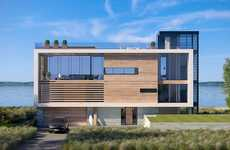 Ultra-Modern Beach Houses - Dune Road House Offers High-End Finishes as Well as Views of the Ocean