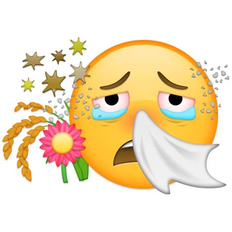 Sniffling Allergenic Emojis - Reactine Has Submitted an Allergy Emoji to the Unicode Consortium
