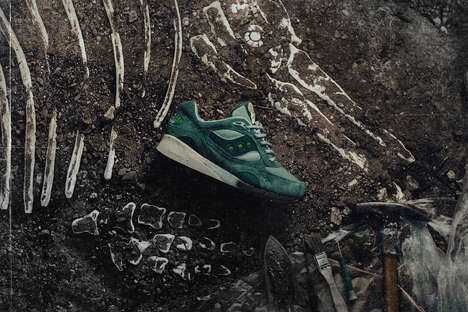 Fossil-Inspired Suede Sneakers - Feature and Saucony Join to Drop the Shadow 6000 Sneakers