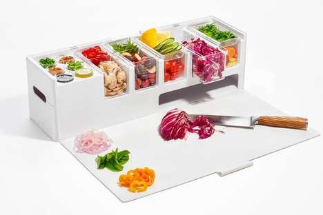 Mobile Meal Preparation Stations - The 'Prepdeck' Enables Organized Preparation from Anywhere