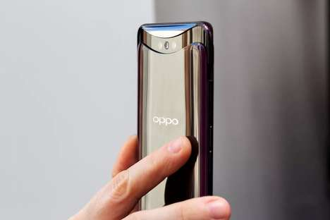 Pop-Up Camera Smartphones - The Oppo Find X Hides Camera Equipment When Not in Use