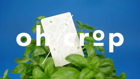 Biodegradable Playing Cards - 'oh/crop' is a Playing Card Game Design with a Sustainable Twist