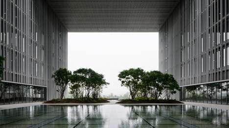 Natural In-House Installations - David Chipperfield Architects Boasts Nature-Inspired Architecture
