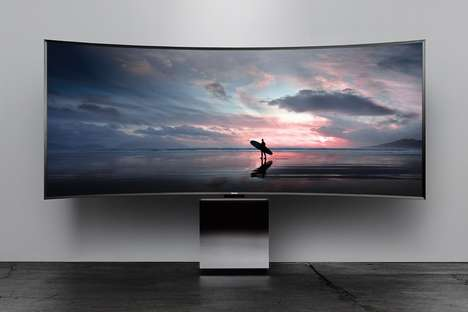 Attention-Drawing Designer TVs - The Samsung 'Cube' TV Intentionally Draws Focus in a Living Room
