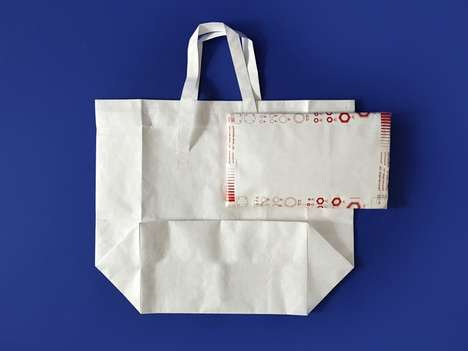 Durable Envelope Bags - This Durable Tyvek Bag is Shipped Out in a Folded Envelope Shape