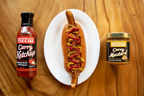 Curried Picnic Condiments - Brooklyn Delhi Offers Spicy, Sweet and Tangy Ketchup and Mustard