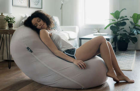 Therapeutic Anti-Gravity Beanbags - The 'Moon Pod' Enables Deep Relaxation in Multiple Positions