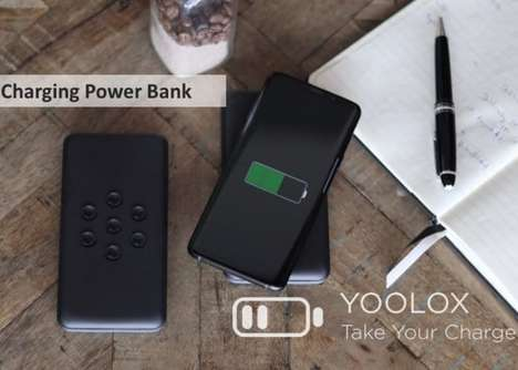 Suctioning Wireless Charger Batteries - The 'YOOLOX' Charger Quickly Powers Up Devices