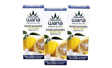 Exotically Flavored Cannabis Candies - The Wana Brands Yuzu Sour Gummies Offer a Consistent Dose