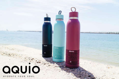 Fashionable Speaker Bottles - Aquio's Waterproof Bluetooth Speaker Bottle is BPA-Free and Insulated