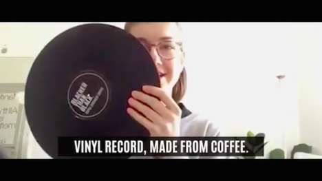 Pressed Coffee Records - Peter's Cold Brew's Functional Vinyl Can Also Be Consumed as a Cold Brew