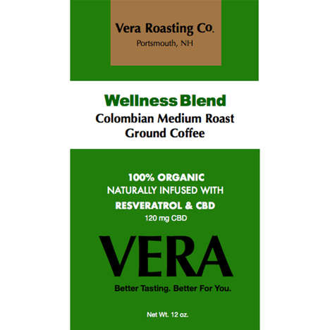 Health-Centric Infused Coffees - 'Wellness Blend CoffVee' is Infused with Resveratrol and CBD