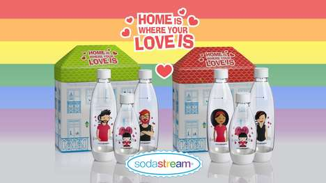 Pride-Celebrating Soda Sets - SodaStream's 'Love is Love' Bottles Portray Same-Sex Families