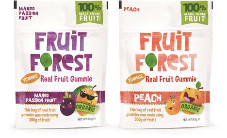 Low-GI Fruit Gummies - Fruit Forest's Free-From Healthy Gummies are Made with 100% Fruit