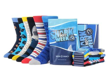 Special-Edition Shark Socks - Sock Fancy and Discovery Teamed Up for a Shark Week Collection